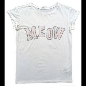 HP H&M Meow Graphic Tee Shirt sz 12-14 Y